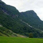 Долина Oldedalen - водопады