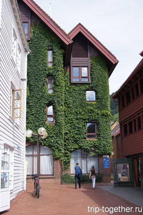 Просто красивый дом в Бергене