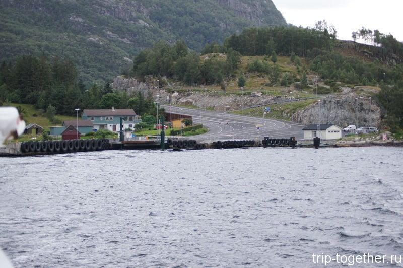Причал парома в Норвегии