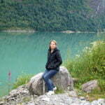 Елена Шикова на озеере Озеро Oldevatnet