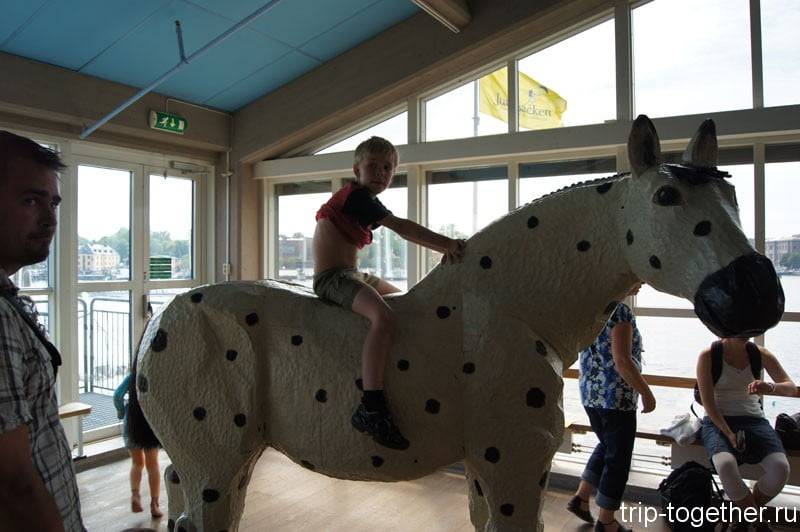 Лошадь Пеппи Длинный Чулок, в музее сказок Юнибакен, Стокгольм