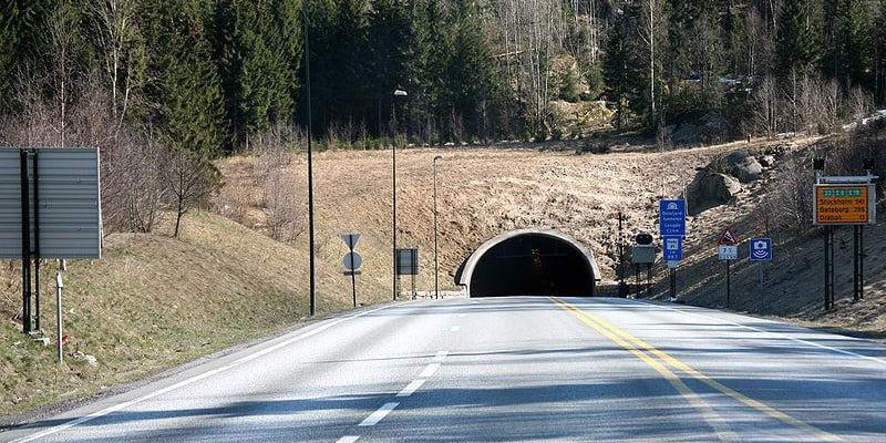 Въезд в Осло тоннель