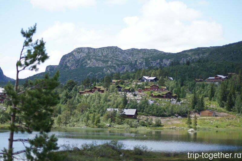 Водоемы и селения в Норвегии по дороге Осло - Ставангер