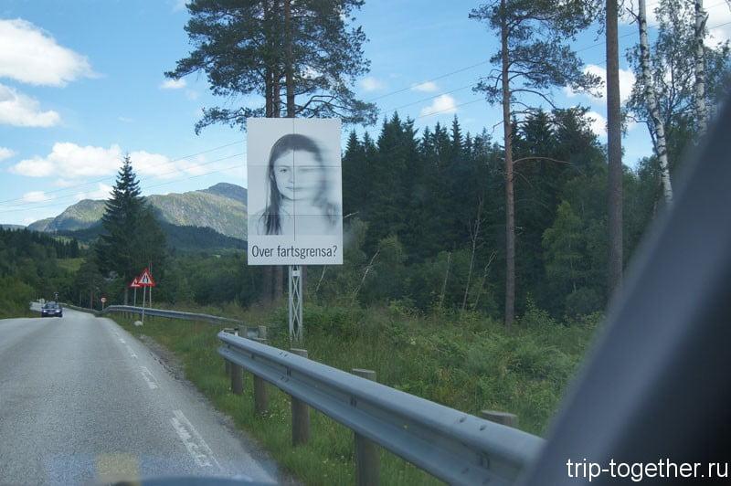 """Этими плакатами уставлены все дороги, означает - """"за ограничение скорости"""""""