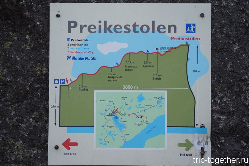 План восхождения на скалу Прекистулен