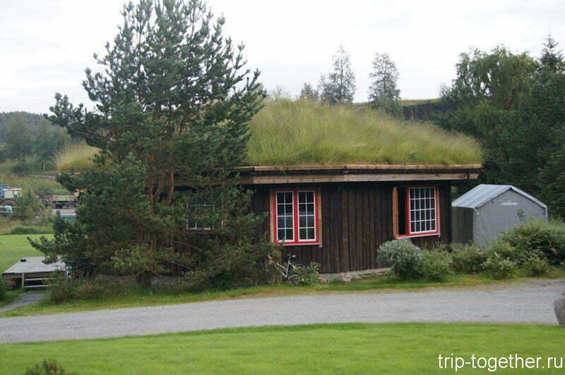 Традиционный домик в кемпинге Прекестулен