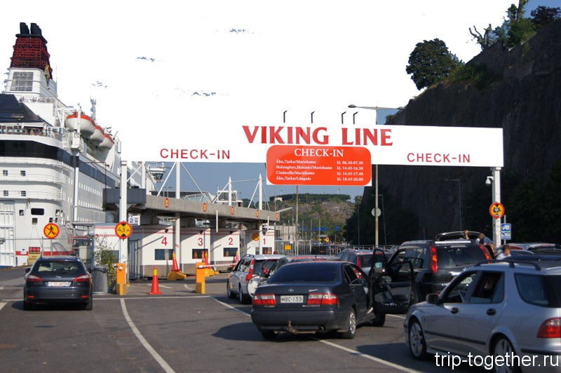 Viking Line check in