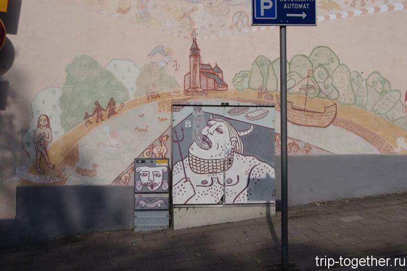 Расписи на стенах в Турку