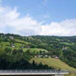 Австрийские деревни вдоль дорог