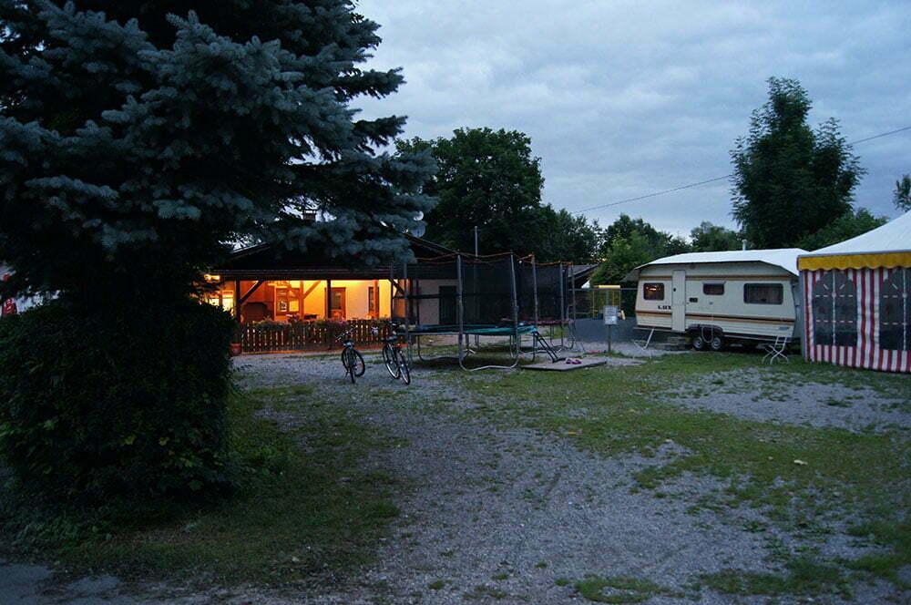 Батут на территории Bannwaldsee camping