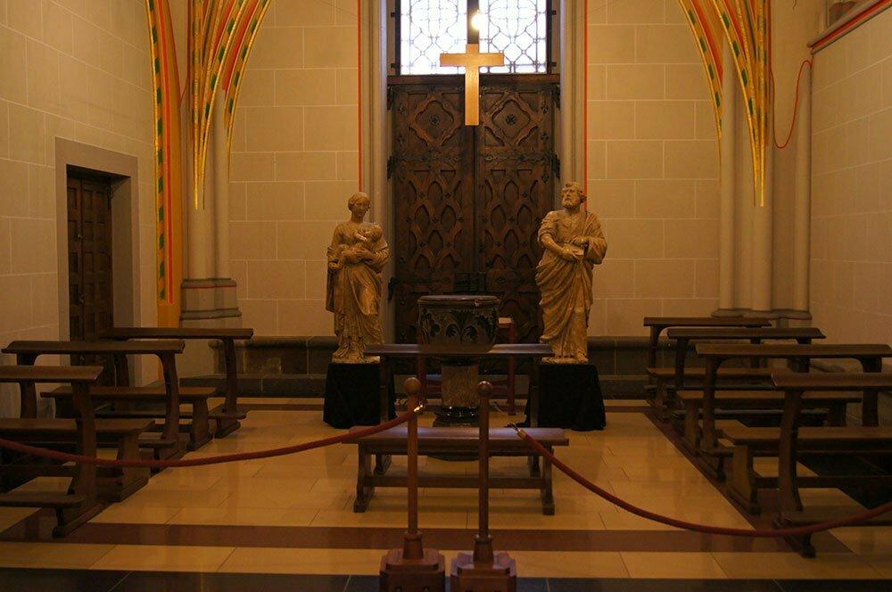 Комната тишины в Кельнском соборе