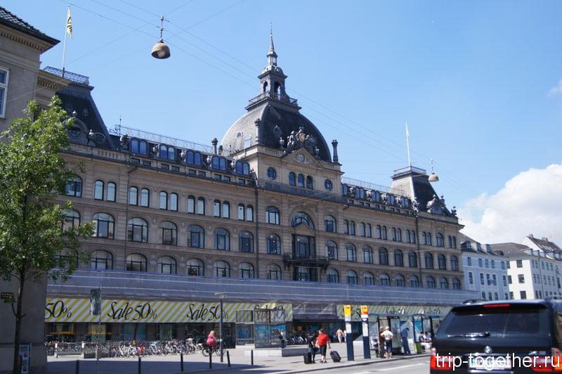 Копенгаген из окна машины
