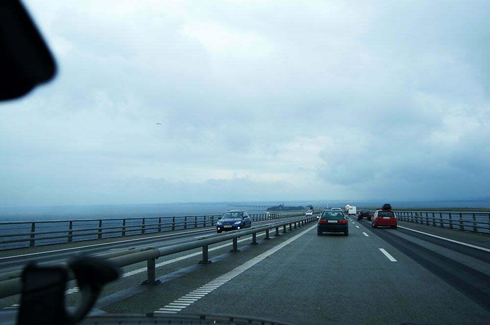 Мост Большой Бельт в Дании
