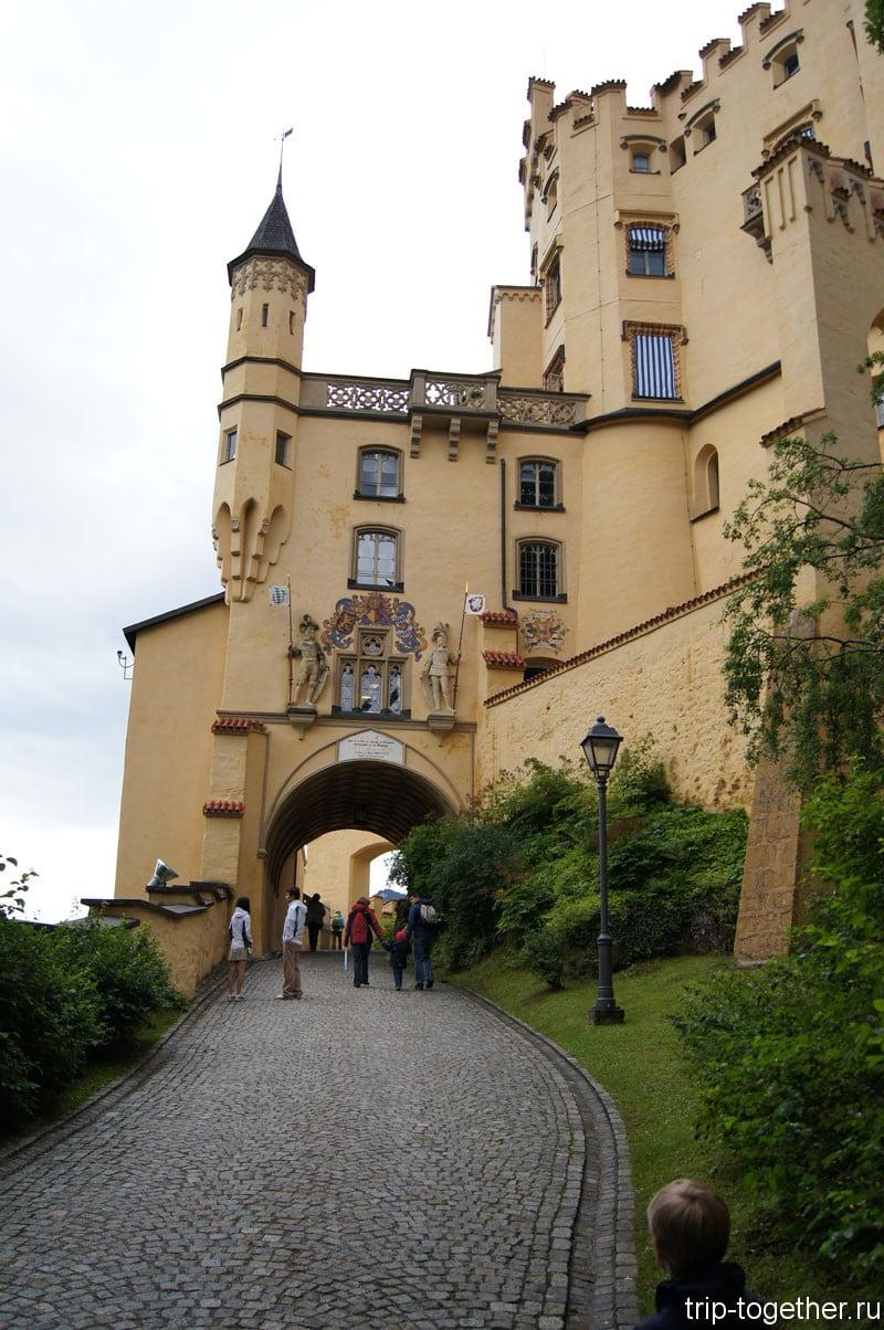 Хоэншвангау - вход в замок