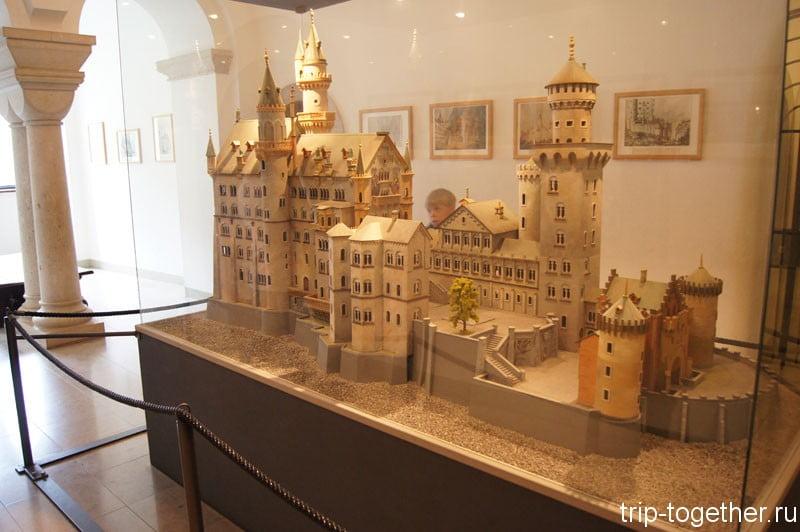 Замок Нойшванштайн, макет внутри замка