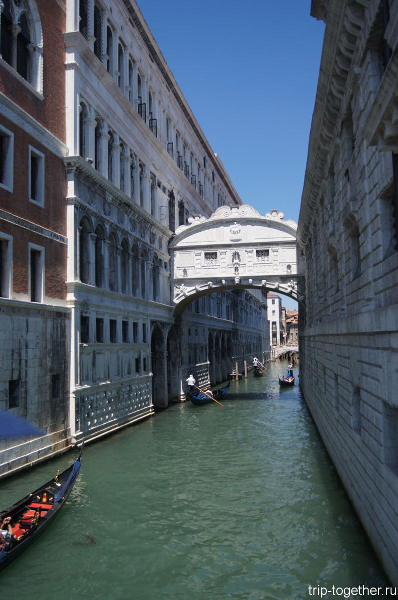 Канал в Венеции, снимок с моста