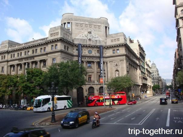Barcelona Bus Turístic на улицах города