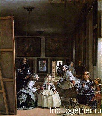 """Картина """"Менины"""", Веласкеса, хранится в музееПрадо, Мадрид"""