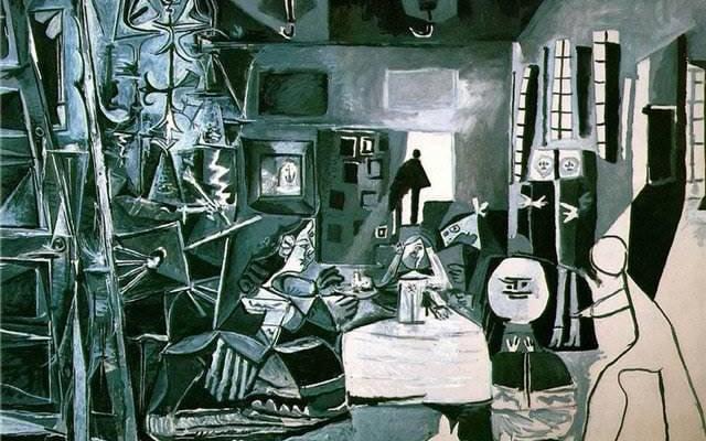 """Картина Пикассо """"Менины"""", перерисовка Веласкеса"""
