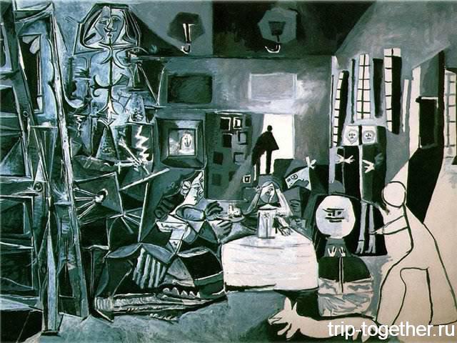 """Картина Пикассо """"Менины"""", перерисовка Веласкеса, музей Пикассо в Барселоне"""