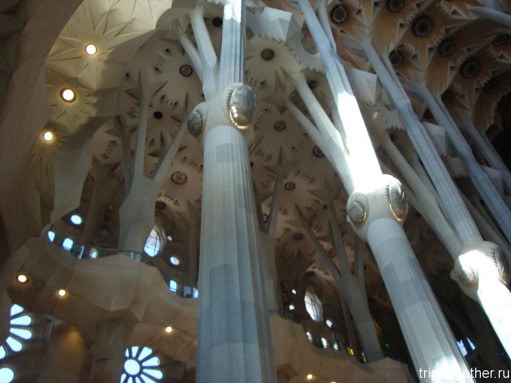 Своды собора Святого Семейства в Барселоне