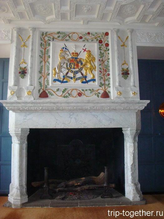 Еще один камин в Эдинбургском замке