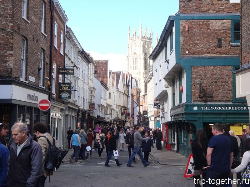 Улица, ведущая к Йоркскому собору