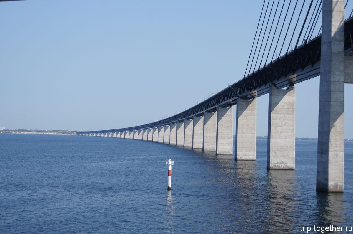Мост между Швецией и Данией приближается