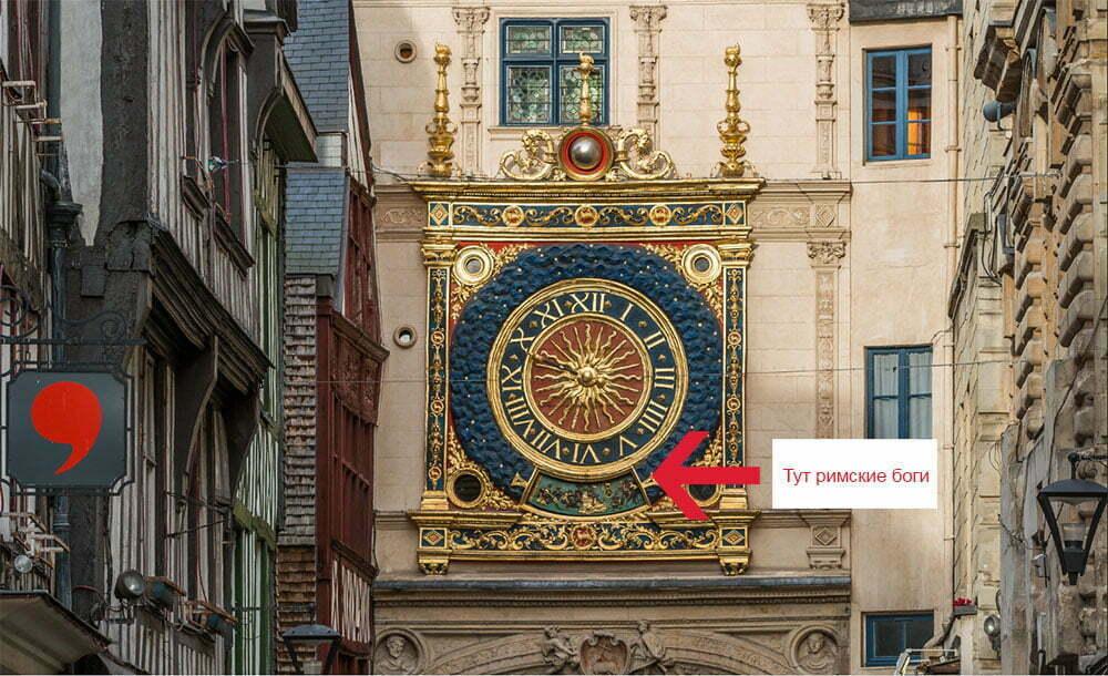 Астрономические часы Грос Орлож в Руане