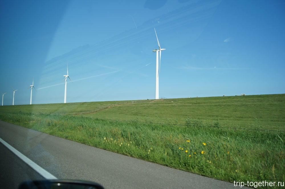 Нидерланды, Бельгия. Современные ветряные мельницы