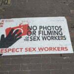 Предупреждение не снимать и не фотографировать проституток