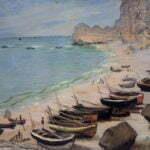 Лодки на пляже Этрета. Клод Моне.