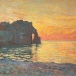 Закат в Этрета, Клод Моне