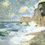 Волны на фоне скалы д'Амонт. Клод Моне. Этрета.