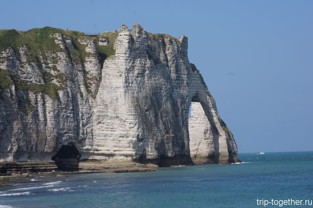 Скала арка д'Авал (La falaise d'Aval) Этрета