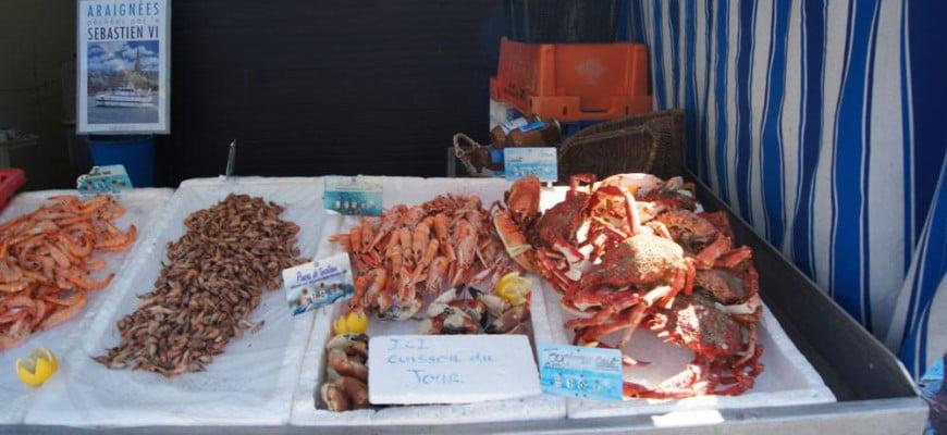 Морепродукты в Канкале. Франция.