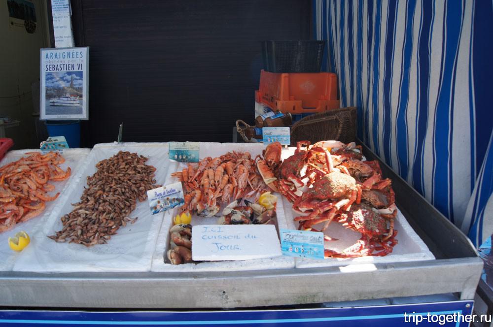 Рыбный рынок на набережной Канкале