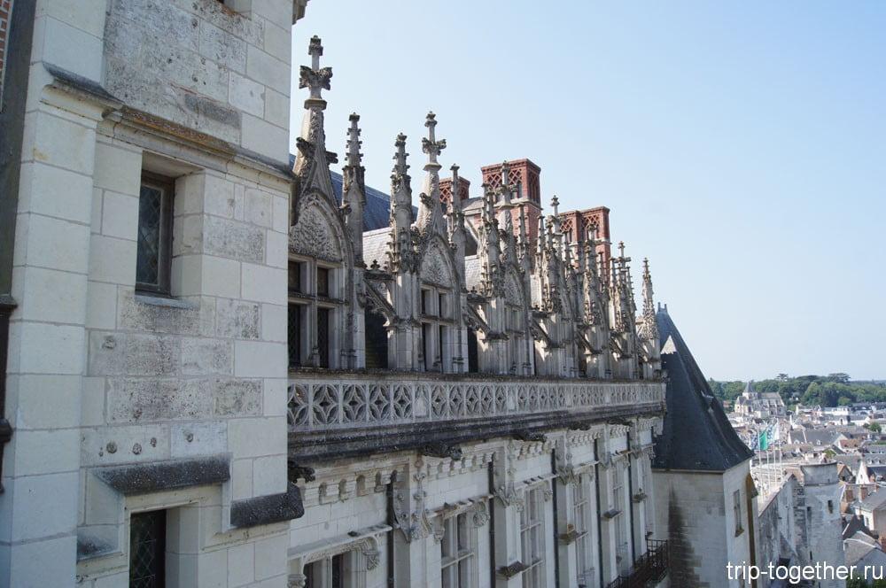 Фасад замка Амбуаз