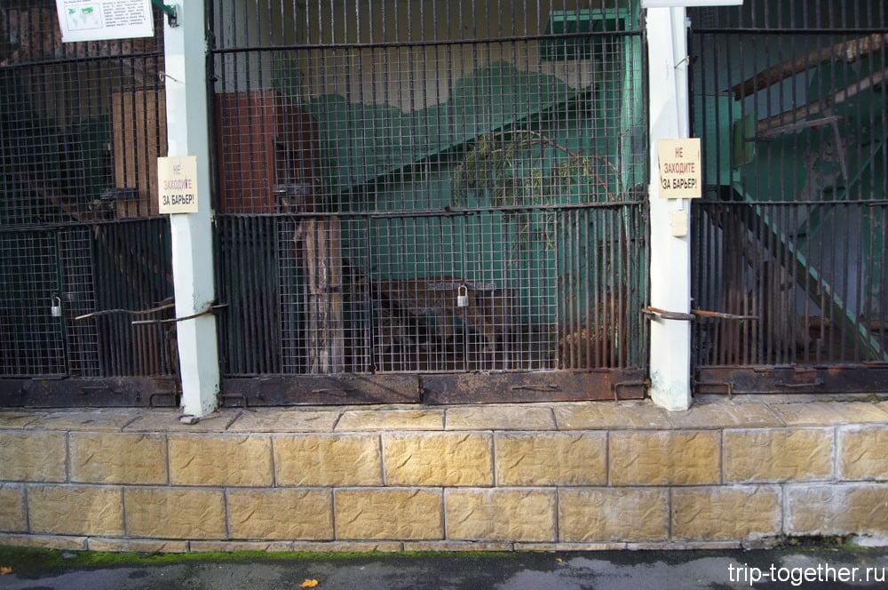 Старинные клетки в Ленинградском зоопарке