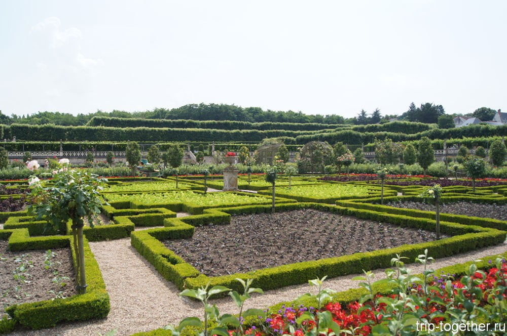 Вид на сад-огород. Вилландри.