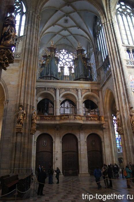 Пражский Град. Соборный орган в стиле роккоко (1763 год)