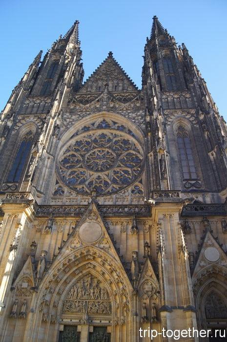 Собор Святого Вита в Пражском Граде - главная достопримечательность Праги