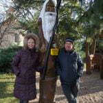Я с мужем в компании праотца Чеха