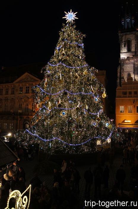 Главная елка Праги
