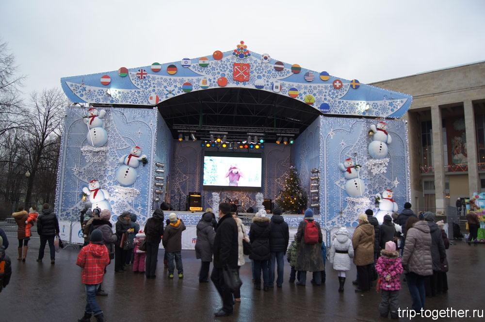 Сцена на рождественской ярмарке в Санкт-Петербурге