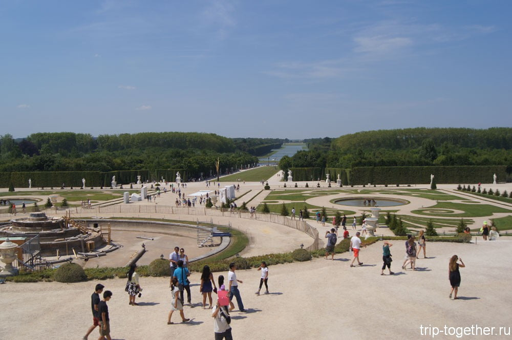 Общий вид парка Версаль