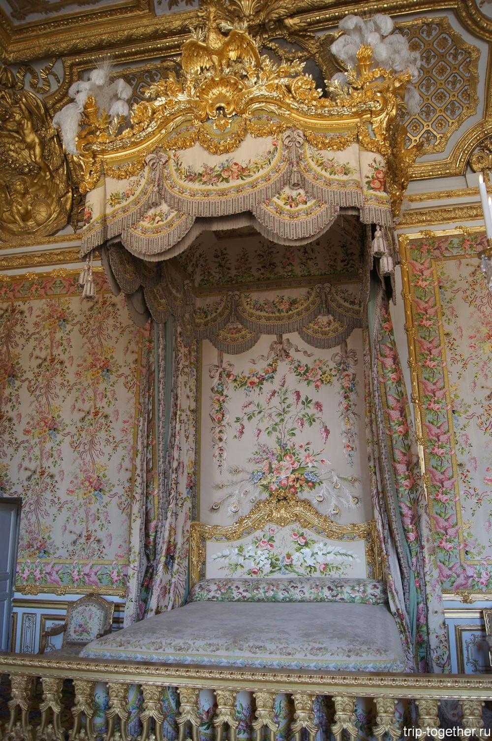 Спальня королевы Франции. Версаль.