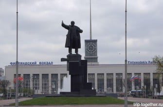 Площадь ленина. Финляндский вокзал. Санкт-Петербург.