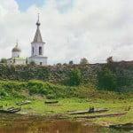 С. М. Прокудин-Горский. Вид на крепость, церковь cв. Георгия и колокольню. 1909 г.