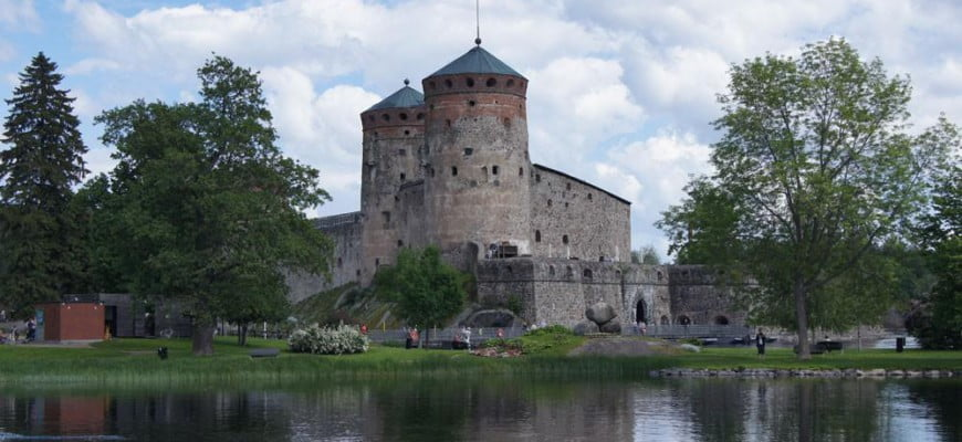 Крепость в Савонлинне. Финляндия.